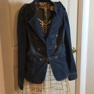 Chico's Blue Jean Denim Jacket